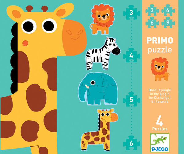 My First Puzzles (4 in 1) - Jungle Animals