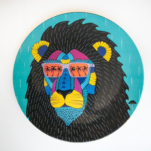 Melamine Large Plate - Leroy The Lion