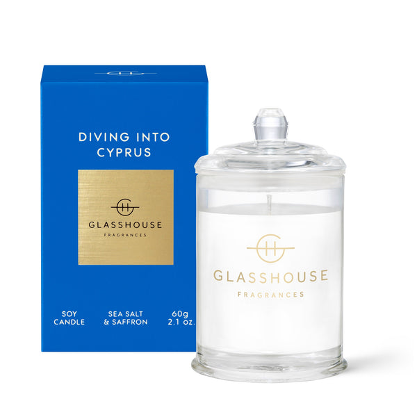 Glasshouse Soy Candle (60g) - Diving into Cyprus