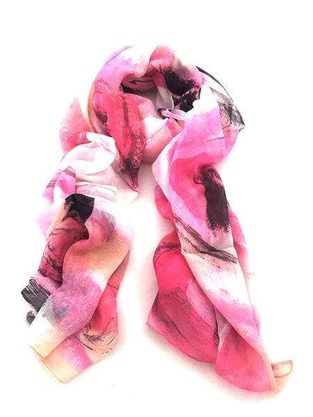 The Artist Label - Pink Viscose Modal Scarf