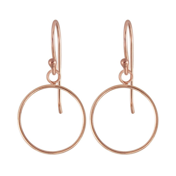 Sterling Silver Gold Plated Earrings - Circle