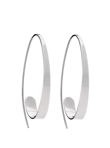 Silver Elegant Hoop Earrings