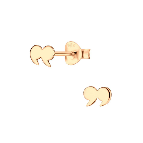 Sterling Silver Rose Gold Plated Studs - Quotation