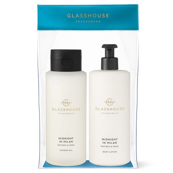 Glasshouse Shower Gel & Body Lotion Duo - Midnight in Milan