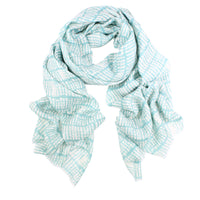Panama Wool/Silk Scarf - Sage/Cream