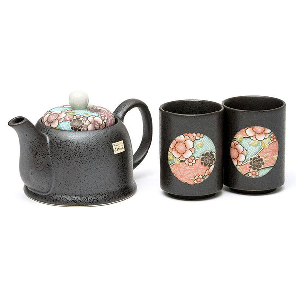 Tea Pot & 2 Cups Set - Blue Clouds