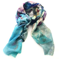Wool & Silk Art Scarf - Winter Sky