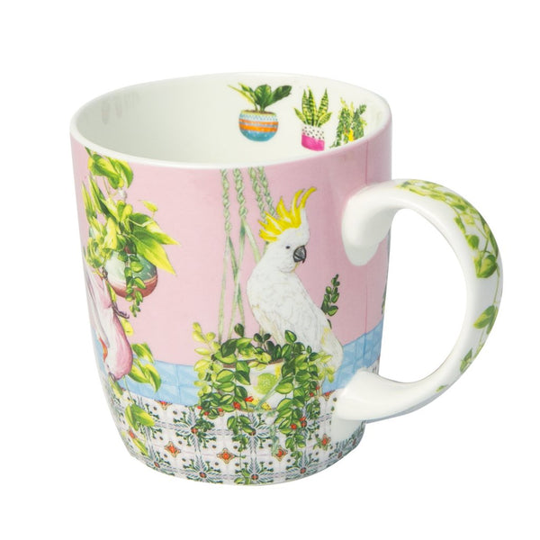 Fine Bone China Mug - Tropical Abode