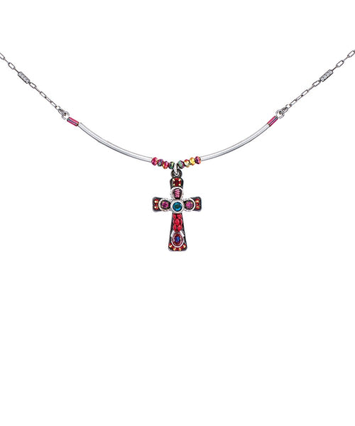 Ayala Bar Cross - Red Pendant C5022