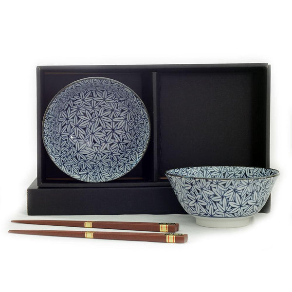 2 Bowl & Chopsticks Set - Maple