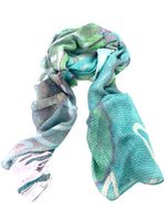 "Artist Label Scarf - ""Water vines' Viscose Modal Scarf"
