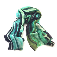 Pure Fine Wool Scarf - Forest Light