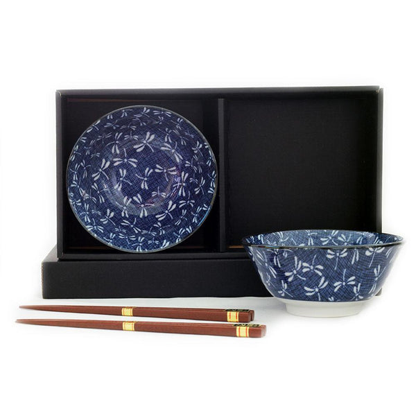 2 Bowl & Chopsticks Set - Tonbo