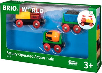 Brio World - 3 piece Battery Operated Action Train (3y+)