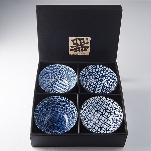 4 Bowl Boxed Set - Mixed Geo