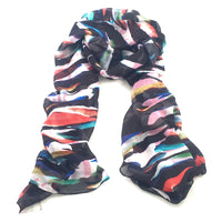 Modal/Viscose Art Scarf - Peeled Off Paint