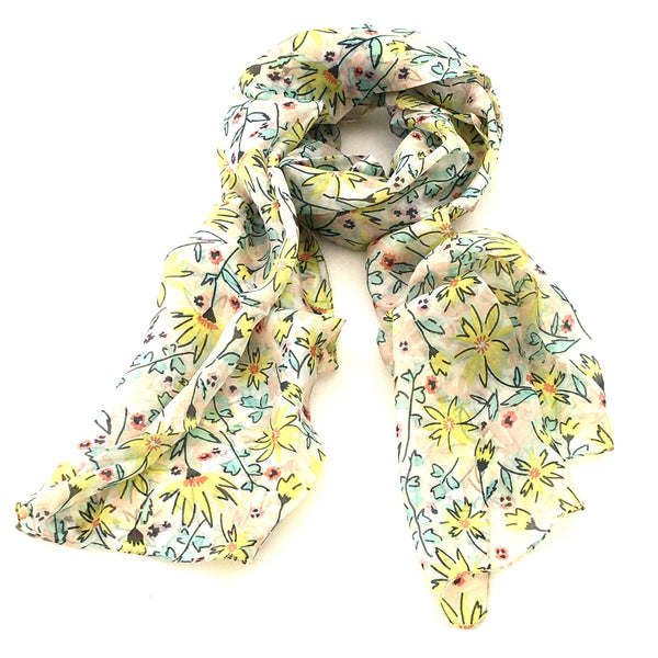 Pure Silk Scarf - Sunshine