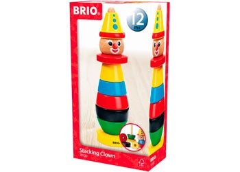Brio Wooden Stacking Clown (12m+)