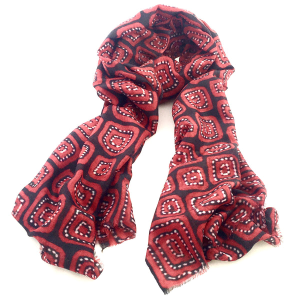Pure Pashmina Scarf - Red Centre