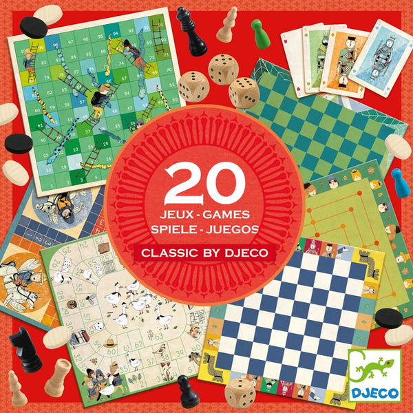 20 Classic Board Games Boxed Set