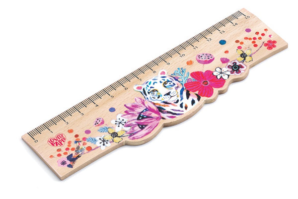 Wooden Ruler - Rainbow Tiger