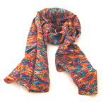 Pure Silk Scarf - Autumn Garden