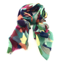 Wool & Silk Art Scarf - Winter Kaleidoscope