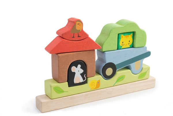 Magnetic Wooden Puzzle - Garden