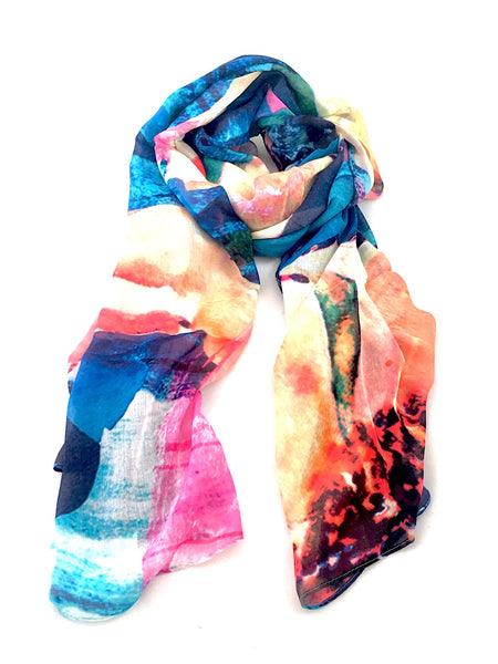 "Artist Label Scarf - ""Above' Viscose Modal Scarf"