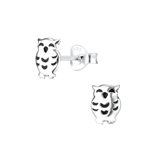Sterling Silver Studs - Owl