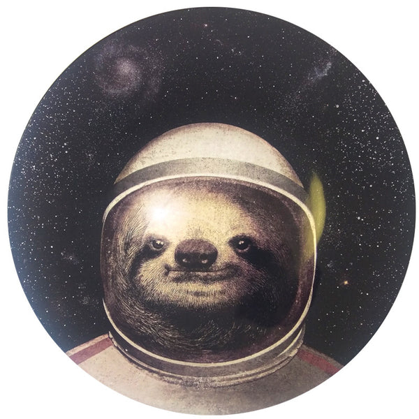 Melamine Large Plate - Space Sloth