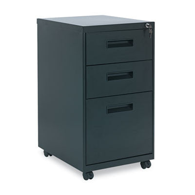 Three-Drawer Mobile Pedestal File, 15-7/8w x 19-3/4d x 28-1/4h, Black
