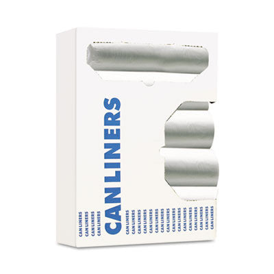 Can Liners, 8-10gal, 24 x 24, 6 Microns, Natural, 50 Bags/Roll