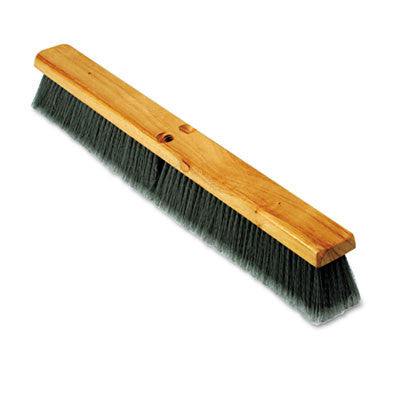 "Floor Brush Head, 3"" Gray Flagged Polypropylene, 24"""
