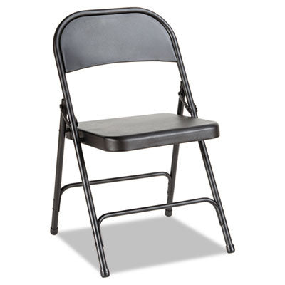 Steel Folding Chair, Graphite, 4/Carton