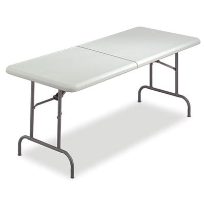 IndestrucTable TOO Bifold Resin Folding Table, 60w x 30d x 29h, Platinum
