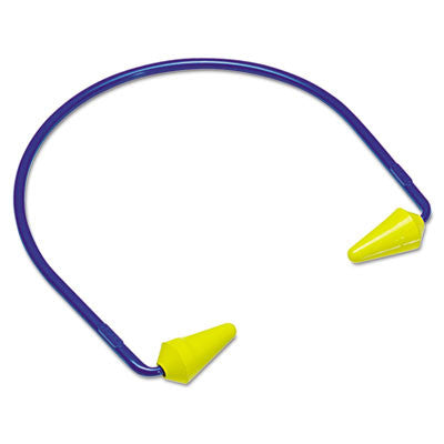 CABOFLEX Model 600 Banded Hearing Protector, 20NRR, Yellow/Blue