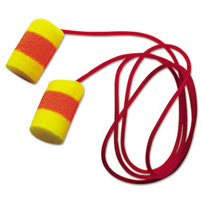 E·A·R Classic SuperFit Earplugs, Cordless, 33NRR, Yellow/Red