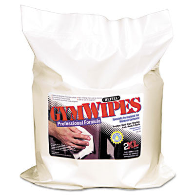 Antibacterial Gym Wipes, 6 x 8, White