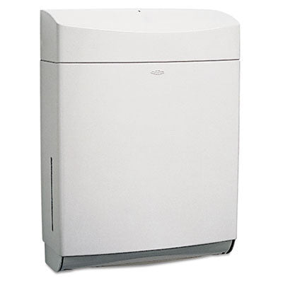 Matrix Series Surface-Mounted Paper Towel Dispenser, ABS Plastic, Gray