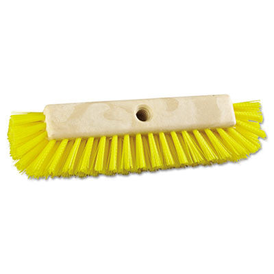"Dual-Surface Scrub Brush, Plastic, 10"", Yellow"