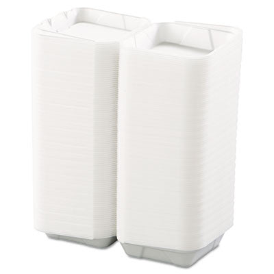 Snap-it Hinged Carryout Containers, Foam, 1-Compartment, 8x8x3, Medium, White