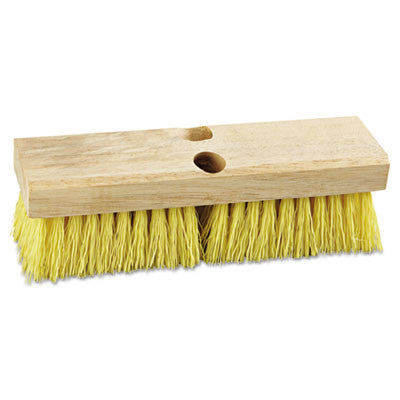 "Deck Brush Head, 10"" Head, Polypropylene Bristles"