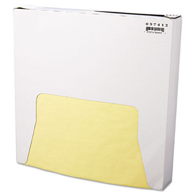 Grease-Resistant Wrap/Liner, 12 x 12, Yellow, 1000/Pack