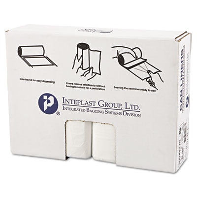High-Density Can Liner, 33 x 40, 33-Gallon, 17 Micron, Clear, 25/Roll
