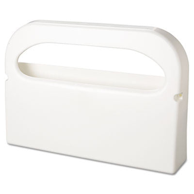 Toilet Seat Cover Dispenser, Plastic, White, Half-Fold, 16w x 3-1/4d x 11-1/2h