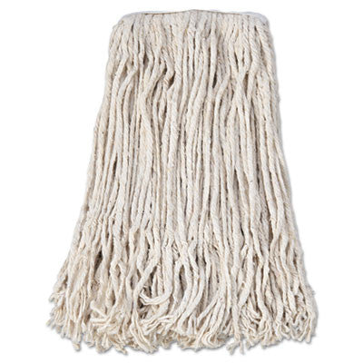 Mop Head, Cotton, Cut-End, White, 4-Ply, #24 Band