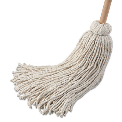 Deck Mop w/54 in. Wooden Handle, 32 oz. Cotton Fiber Head