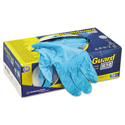 G10 Blue Nitrile Gloves, Powder-Free, Blue, Medium