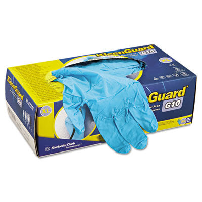 G10 Blue Nitrile Gloves, Powder-Free, Blue, X-Large